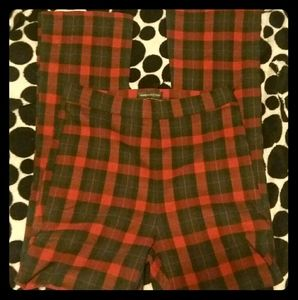 Urban Outfitters Red/Black Plaid Pants